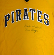 """Vince DiMaggio Autographed Pittsburgh Pirates Jersey """"Praise The Lord"""" PSA/DNA #W07962"""
