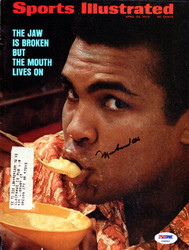Muhammad Ali Autographed Sports Illustrated Magazine Cover PSA/DNA #AA00497
