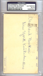 Cleveland Buckner Autographed 3x5 Government Postcard New York Knicks PSA/DNA #83859553