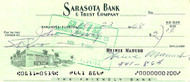 Heinie Manush Autographed Check Washington Senators Check #0200 SKU #100279