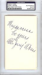 A.E. Jerry Akers Autographed 3x5 Index Card Washington Senators PSA/DNA #83860268
