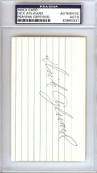 Dick Aylward Autographed 3x5 Index Card Cleveland Indians PSA/DNA #83860331