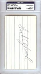 Dick Aylward Autographed 3x5 Index Card Cleveland Indians PSA/DNA #83860331