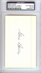 Gene Bailey Autographed 3x5 Index Card A's, Braves Signed Twice PSA/DNA #83860351
