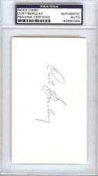 Curt Barclay Autographed 3x5 Index Card New York Giants PSA/DNA #83860364