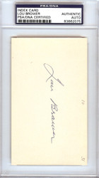 Lou Brower Autographed 3x5 Index Card Detroit Tigers PSA/DNA #83862075