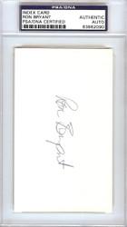 Ron Bryant Autographed 3x5 Index Card San Francisco Giants PSA/DNA #83862090