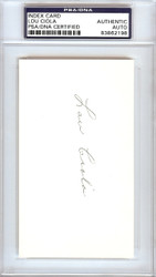 Lou Ciola Autographed 3x5 Index Card Philadelphia A's PSA/DNA #83862198