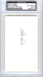 Billy Parker Autographed 3x5 Index Card California Angels PSA/DNA #83862250