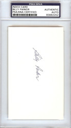 Billy Parker Autographed 3x5 Index Card California Angels PSA/DNA #83862252