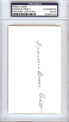 Frank Pratt Autographed 3x5 Index Card Chicago White Sox PSA/DNA #83862303