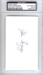 John Pregenzer Autographed 3x5 Index Card San Francisco Giants PSA/DNA #83862307