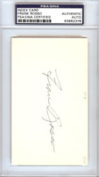 Frank Rosso Autographed 3x5 Index Card New York Giants PSA/DNA #83862378