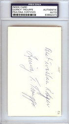 "Quincy Trouppe Autographed 3x5 Index Card Negro League ""Best Wishes Roger"" PSA/DNA #83862473"