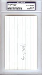 Jake Early Autographed 3x5 Index Card Washington Senators PSA/DNA #83862833