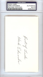 Hank Edwards Autographed 3x5 Index Card Chicago Cubs PSA/DNA #83862846