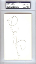 Dick Turk Farrell Autographed 3x5 Index Card Philadelphia Phillies PSA/DNA #83862885