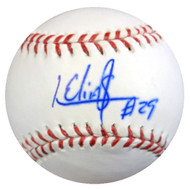 Roenis Elias Autographed Official MLB Baseball Boston Red Sox MCS Holo #43035