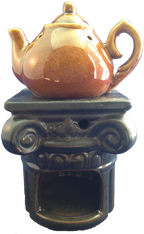 Attar Mist Round Tea Pot Oil Burner