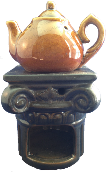 Attar Mist Round Tea Pot Oil Burner