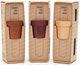 Smart pot vase available in three colors -  Sapele, Purple Heart and Beech