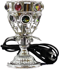 Jewel Cup Electric Burner Silber AttarMist.com