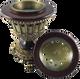 Luxury Pedestal burner with lid off - AttarMist.com