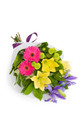 Mixed flowers bouquet for delivery in Italy, including lilies and gerberas.