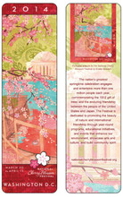 "2014 National Cherry Blossom Festival Laminated Bookmark (2"" x 7"")"