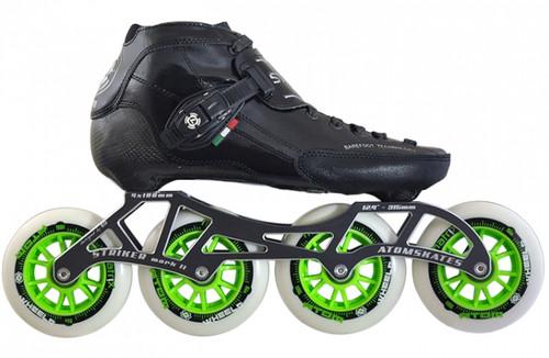 Atom Skates - Luigino Strut - 4  wheel Inline speed skate package