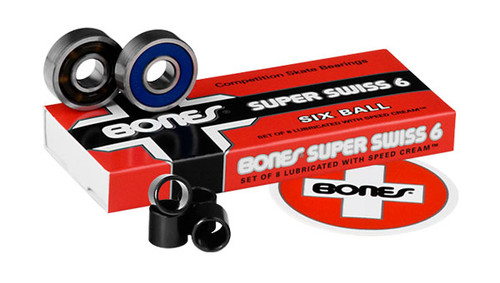 Bones Bearings - Super Swiss 6 Bearings ( 8 pack )  608 8 mm