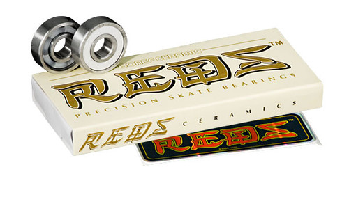 Bones Bearings - Ceramic Super  REDS Bearings ( 16 pack )  608 8mm