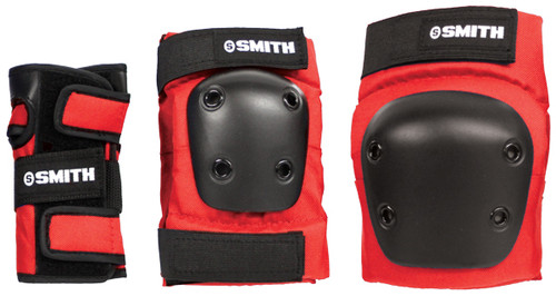 Smith Scabs Safety Gear -  YOUTH 3 PACK - RED