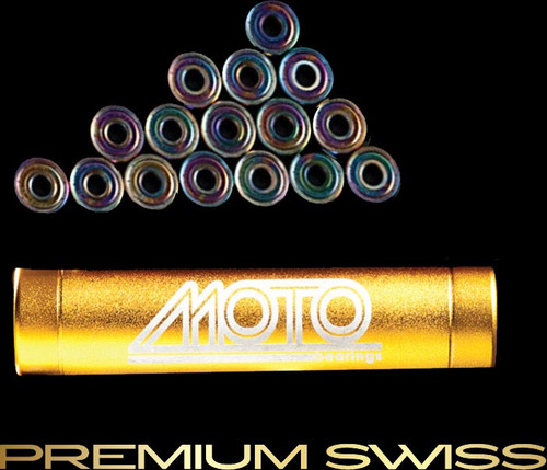 Moto Premium Swiss bearings ( set of 16 roller derby bearings )