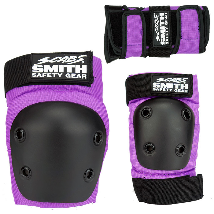 Smith Scabs Safety Gear -  YOUTH 3 PACK - Purple
