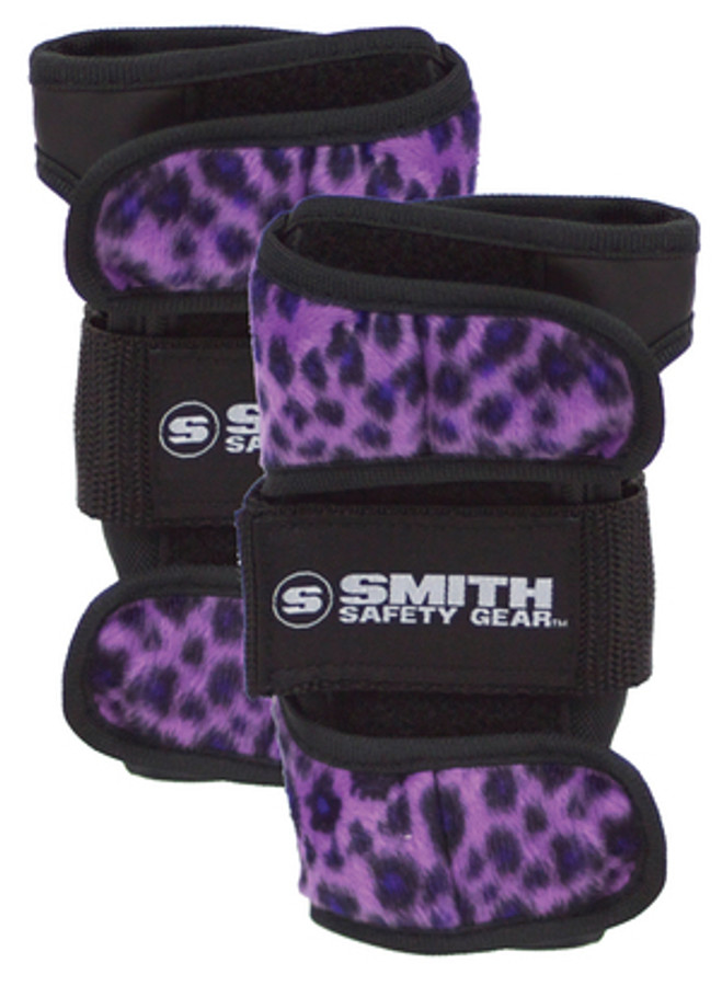Smith Scabs Safety Gear -  WRIST GUARDS - Purple Leopard