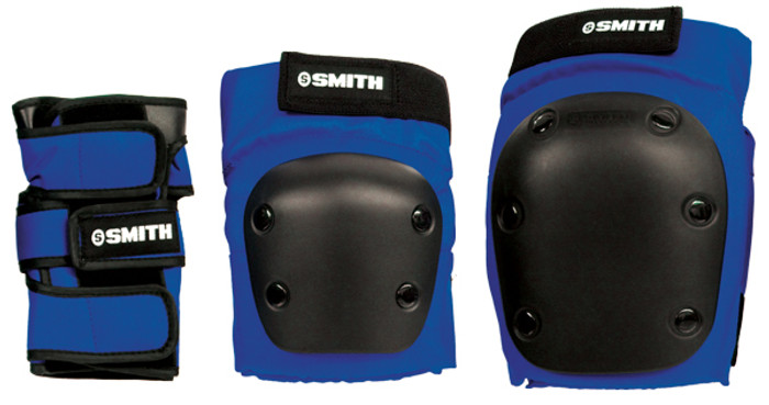Smith Scabs Safety Gear -  BLUE - ADULT 3 PACK