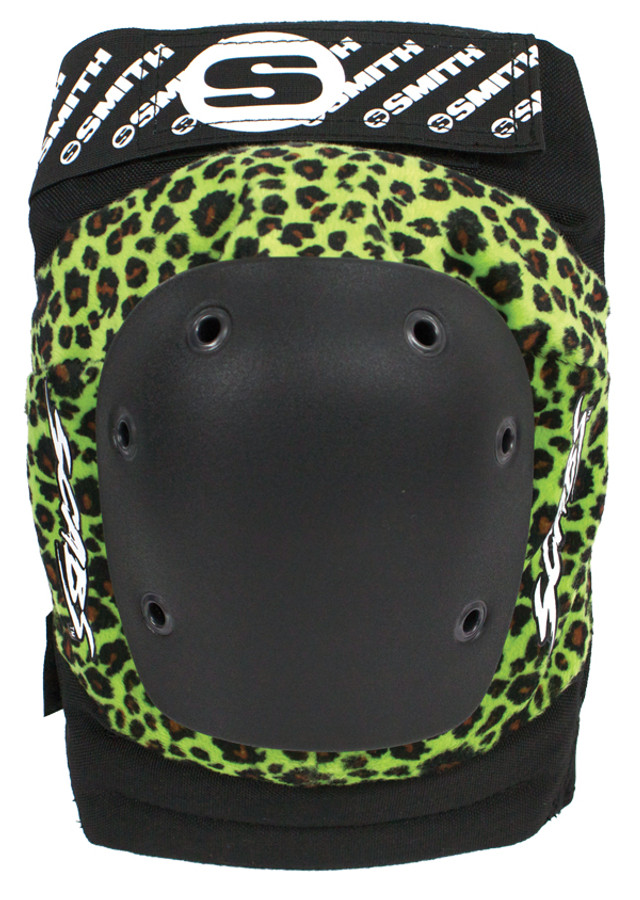 Smith Scabs Safety Gear - GREEN LEOPARD - Elite Knee Pads -