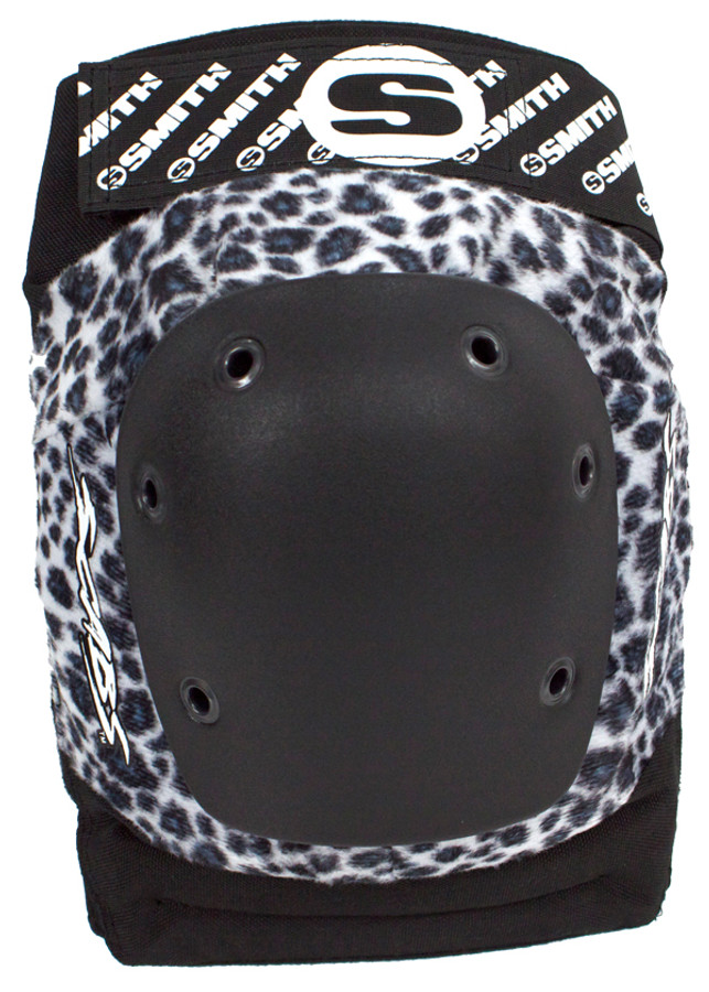 Smith Scabs Safety Gear - WHITE LEOPARD - Elite Knee Pads -