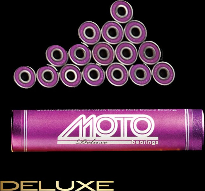Moto Deluxe bearings ( set of 16 roller derby bearings )