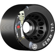 Rollerbones - Day of the Dead (62x94a) Black Roller Derby Wheels ( 4 pack )