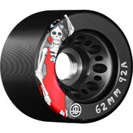 Rollerbones - Day of the Dead Black (62x92a) Roller Derby Wheels ( 4 pack )