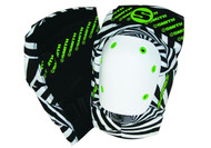 Smith Scabs Safety Gear - Elite Knee Pads - HYPNO WHITE BLACK & GREEN