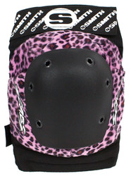 Smith Scabs Safety Gear - PINK LEOPARD - Elite Knee Pads -