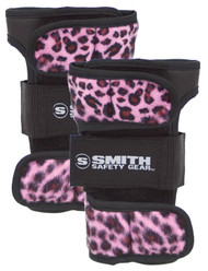 Smith Scabs Safety Gear -  WRIST GUARDS - PINK Leopard