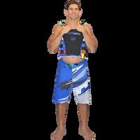 Ripped Men's Board Shorts - Blue PWC Jetski Ride & Race Apparel