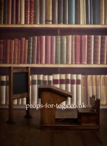 Bookshelf photography backdrop
