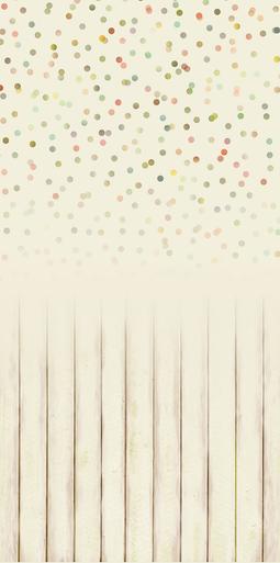 Cream wood floor polka dot