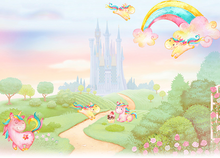 unicorn and princess castle toddlers themed photographers backdrop