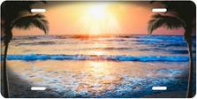 Incoming Tide with Sun Scenic Auto Plate sku T1752